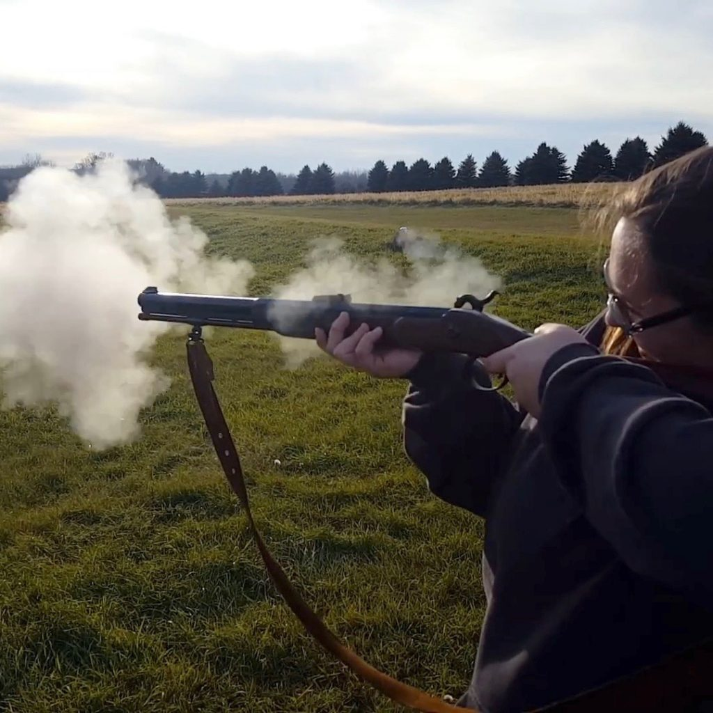Shooting the muzzleloader