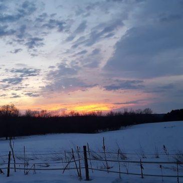 Winter Sunset in February