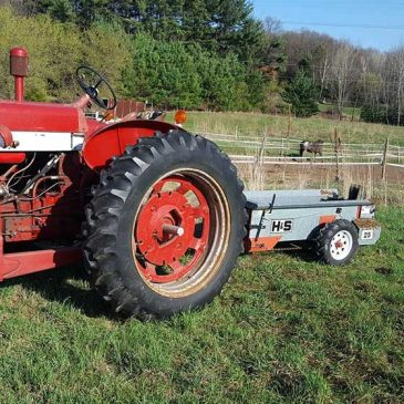 Farmall 460 Tractor and the Manure Spreader