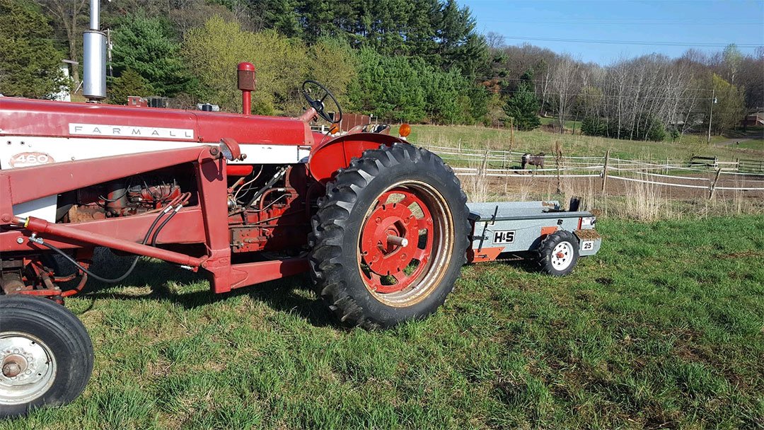 My Farmall Tractor and the Manure Spreader