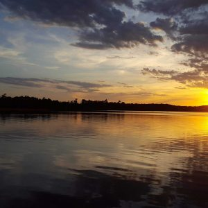 A picture perfect sunset on Spirit Lake.