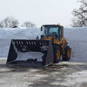 Snow Banks in Wisconsin