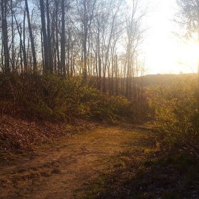 Sunset hiking at Hoffman Hills in Colfax Wisconsin