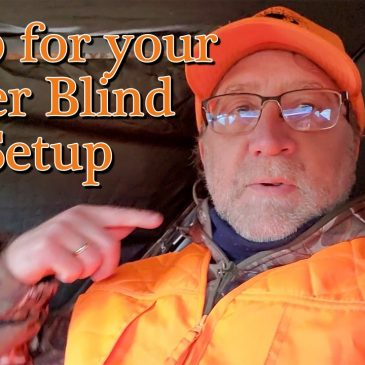Setting Up a Deer Blind